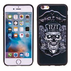 Biker Skull 3D Hologram TPU Phone Case Skin for iPhone 6 Plus & 6S Plus