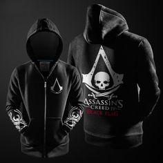 Assasins Creed Hoodie / Men Black / Sweatshirt
