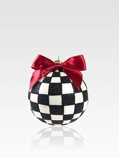 MacKenzie-Childs Courtly Check Glass Ball Ornament