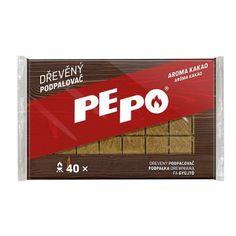 Podpaľovač PE-PO®, drevný, 40 podpalov NEW News