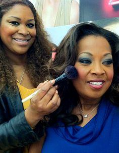Bobbi Brown makeup artist giving Star Jones a makeup update