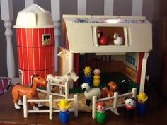 Vintage Fisher Price Little People Farm Playset - would go great with our farm-themed nursery furniture