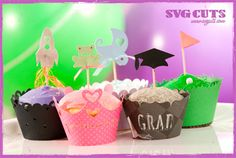 Family Party Cupcake Wrappers SVG Kit