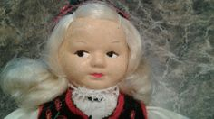 This auction is for a vintage cloth doll 8 inch high and tagged by the maker , from Norway. Please email for questions or concerns. Thank you.   eBay!