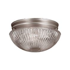 Millennium Lighting 9.5-In W Satin Nickel Ceiling Flush Mount Light 50