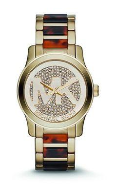 Stunning MK Runway Gold & Tortoise Watch. Starting at $150 on Tophatter.com!