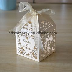 Find More Event & Party Supplies Information about 200pcs/lot laser cut bride and groom wedding candy chocolate boxes ivory and white , wedding favours and souvenirs,High Quality candy box wholesale,China boxes for cookies and candy Suppliers, Cheap box straw from Jinan Mery Arts And Crafts Co., Ltd. on Aliexpress.com