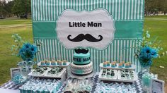 Mustaches / Little Man Baby Shower Party Ideas | Photo 3 of 6