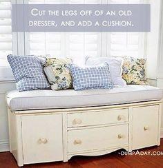Van oud meubelstuk naar....? 13 heerlijk creatieve zelfmaakideetjes met oude meubels - Zelfmaak ideetjes