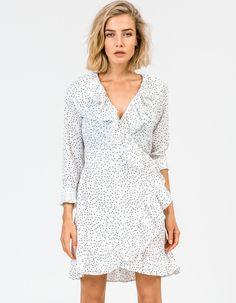 Superette - Frill Mini Dress - White - $230 White Mini Dress, White Tops, No Frills, Tunic Tops, Dresses, Women, Fashion, Vestidos, Moda