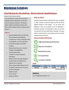 Cloud Backup for SQL & Tally platform - Best in Class for Small Business Microsoft Sql Server, Platform, Clouds, Business, Wedge