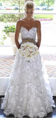Luxurious Full Appliques gorgeous dresses