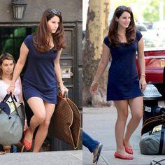 Lana Del Rey - casual blue dress - celebrity