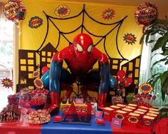 Spider-Man Theme Candy Table by: Christina L