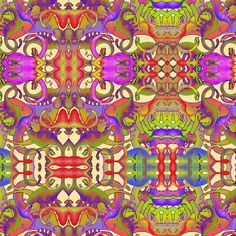 DINOSAURS MISHMASH BRIGHT PSYCHEDELIC fabric by paysmage on Spoonflower - custom fabric