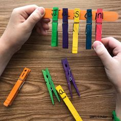 Clothespin Name Practice - Simply Kinder