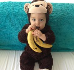 Top Baby Names 2015 for Boys #monkey #outfit #banana #cute #adorable