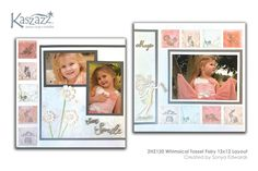 This project will show you how to create a cute double page layout with little forest animals, a fairy with a pearl and glitter dress carrying a. Scrapbooking Layouts, Scrapbook Cards, Fairy Birthday, Glitter Dress, Forest Animals, Close To My Heart, Page Layout, Tassels, Card Ideas