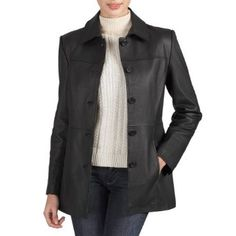 Womens Leather Car Coat - Coat Nj
