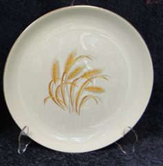 Homer Laughlin Golden Wheat Dinner Plate in Pottery & Glass, Pottery & China, China & Dinnerware | eBay