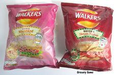 Walkers Ham& Mustard and Bacon & Tomato Ketchup Crisps