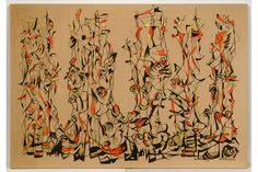 Norman Lewis, Untitled (Too Much Aspiration), 1953. Oil and gold metallic paint on linen, 49 ½ x 71 in