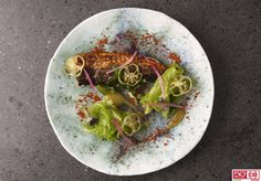 Sgombro, alghe e pomodori verdi #CB #CBcookinginnovation