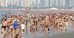 Praia do Gonzaga - Santos - São Paulo