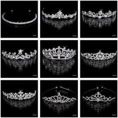 9 Style Gorgeous Alloy With Rhinestones Wedding Tiara Bridal Accessory Headpiece
