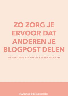 Wanneer mensen je blogpost delen, krijg meer bezoekers op je website. Lees daarom hier hoe je ervoor zorgt dat anderen je blogpost delen.