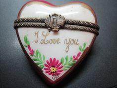 Vintage Limoges Trinket Box..... I Love You by GuardianAngels