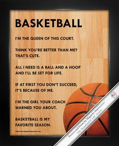 Basketball Female Poster Print is full of attitude. A basketball court and funny…