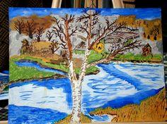 Texas landscape 9x12 by InspriationWorkshop on Etsy, $45.00
