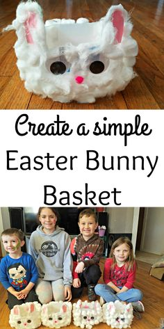 Create a simple Easter Bunny Basket the kids will love. With a few household items and an upcycled milk jug, this is a simple Easter craft for kids.