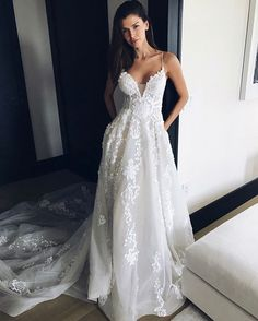 "1,901 Likes, 26 Comments - Pallas Couture (@pallascouture) on Instagram: ""Monday morning feels // the beautiful @alejandracata in our Pallas Haute Couture ""ANNALINA"" gown …"""