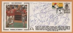 Barry Larkin McGwire BLEM 84 Olympic Silver Medal Signed Gateway Stamp Envelope #TeamUSAOlympic