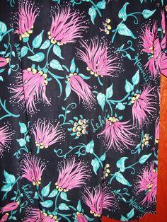 Watamull's Lehua Flower Vintage Rayon Hawaiian Shirt