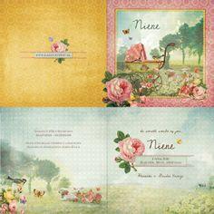 """Weide Lammetjes """"roze""""   GEBOORTEKAARTJES   Kaartje of Kip"""