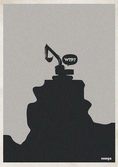 Minimalism: Creative illustration of Hilarious WTF Moments - Illustration