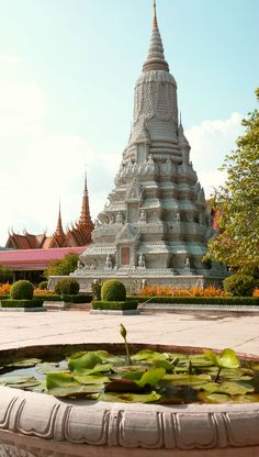 Walk in the footsteps of ancient royalty at the Stupa of King Norodom in Phnom Penh.