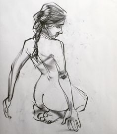5 min pose. Had some time to focus on fingers, hair, face. Norm #grizandnorm #figuredrawing #croquisbook