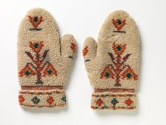 Swedish Mittens, century Hand-knit wool, x cm, Rhode Island School of Design Museum Folk Costume, Design Museum, Historical Clothing, Traditional Outfits, Mittens, Hand Knitting, Knit Crochet, Gloves, Objects