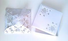 Sobre realizado con troquel decoración Vintage Marianne Design LR0269 Caja decorada con troquel de Esquina Anja de Marianne Design LR0269