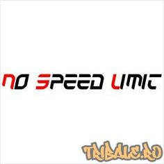 "Sticker ""No Speed Limit"""