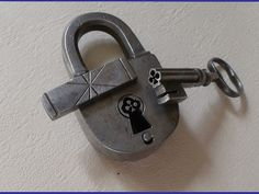 The cool part of this lock is the key and keyway. Definately cool, but cool comes with an expensive price. Knobs And Knockers, Knobs And Handles, Door Handles, Under Lock And Key, Key Lock, Vintage Door Knobs, Vintage Keys, Antique Shelves, Unique Key