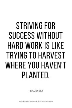 Striving for success