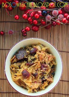 Gotowana kapusta w winie z żurawiną wg 5 Przemian Boso w Kuchni www.bosowkuchni.blogspot.com