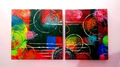An original abstract painting in Acrylics.. Size: (12*12, 10*12 inches)