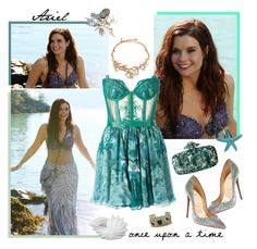 """""""OUAT Ariel"""" by becky-86 ❤ liked on Polyvore featuring Christian Louboutin, Once Upon a Time, Kristian Aadnevik, Oscar de la Renta, Victor Velyan, Privilege, onceuponatime, ouat, ariel and lasirenetta"""
