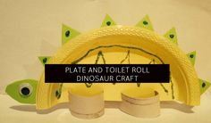 momstown moms love to use materials they have laying around the house for simple crafts for kids just like this Dinosaur craft from a paper plate and toilet roll.  With dinosaurs on our minds this month at our community events, we are looking for lots of ways to get the kids involved in learning more about these prehistoric beasts!  This craft is a stegosaurus dinosaur.